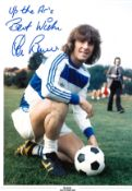 Stan Bowles signed 16x12 colour photo pictured during his time with Queens Park Rangers rare