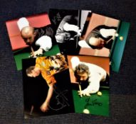 Snooker/Darts collection 5 signed photos from household names such as Wayne Mardle, John Virgo,