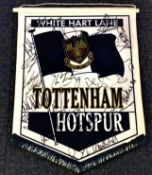 Football Tottenham Hotspur multi signed pennant 18 signatures from the 2002 squad includes Teddy