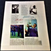 Golf Legends 20x16 mounted magazine montage articles signed by Sam Snead, Sandy Lyle, Tony Jacklin