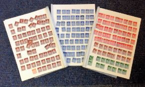Edward and King George stamp collection on 4 album pages. Good Condition.