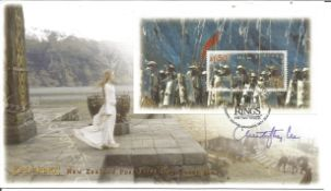 Christopher Lee signed New Zealand Lord of the Rings FDC. Good Condition. All autographs are genuine