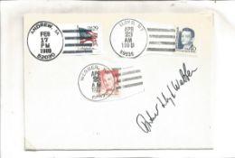 Andrew Lloyd Webber signed envelope. Mailed and franked 3 times. In Andrew, Lloyd and Webber in