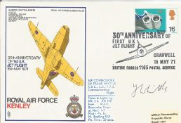 Jet Engine designer Frank Whittle signed RAF Kenley cover. Good Condition. All autographs are