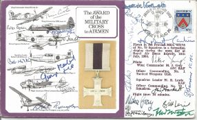 Award of the military cross to airmen signed cover. Signed by 18 including Lord Runcie, F West,
