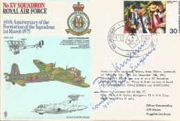 WW2 Admiral Brinkmann CO Prinz Eugen signed XV Sqn RAF cover, rare only 40 issued. Good Condition.