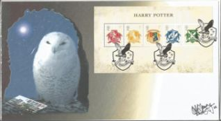 Harry Potter actress Katie Leung signed Internetstamps Harry Potter miniature sheet official FDC.