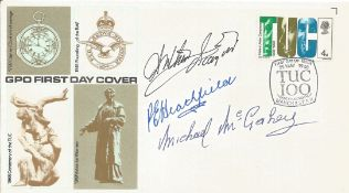Arthur Scargill, Peter Heathfield and Mick McGahey signed cover. Good Condition. All autographs