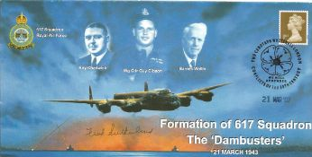 WW2 Dambuster Fred Sutherland signed 2007 Formation of 617 sqn cover. Good Condition. All autographs