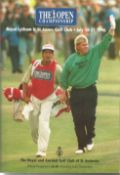 Jack Nicklaus golf legend signed on his picture page of 1996 Open Golf Championship programme