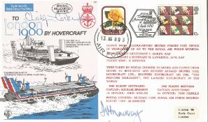 Sir Christopher Cockerel signed Hovercraft cover. Good Condition. All autographs are genuine hand