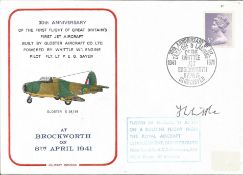 Frank Whittle signed 30th anniv of the first flight of Great Britains first jet aircraft cover. Good