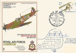 Sir Keith Park signed RAF Uxbridge Spitfire cover SC30. Good Condition. All autographs are genuine