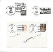 Murray Wood signature piece that has been mailed and franked. USA wood postmark. Played Munchkin