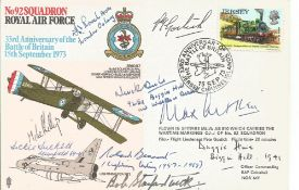Max Aitken, Robert Stanford Tuck, Duggie Hine, Roly Beaumont and Neville Duke signed cover. Good