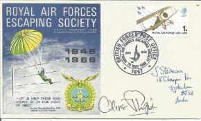 Oliver Philpot signed RAF escaping society cover. Good Condition. All autographs are genuine hand