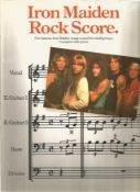 Iron Maiden Rock score booklet. UNSIGNED. Good Condition. All autographs are genuine hand signed and