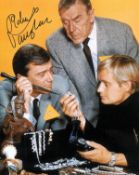 Robert Vaughan signed 14x12 colour Man from Uncle photo. The Man from U. N. C. L. E. is an