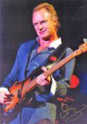 Sting signed 17x12 colour photo. Gordon Matthew Thomas Sumner CBE born 2 October 1951, , known as