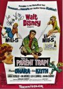 Hayley Mills signed 17x11 The Parent Trap colour promo photo. Hayley Catherine Rose Vivien Mills