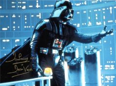 Dave Prowse signed 16x12 Darth Vader Star Wars colour photo. David Charles Prowse MBE born 1 July