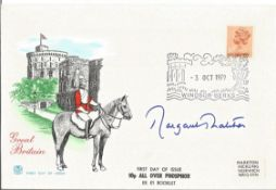 Margaret Thatcher signed FDC Great Britain PM 3rd Oct 1979 Winsor Berks. Good Condition. All