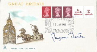 Margaret Thatcher signed FDC Great Britain PM 16 Jan 1980 Winsor Berks. Good Condition. All