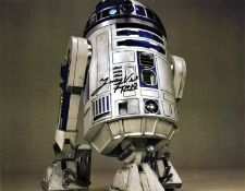 Jimmy Vee signed 14x12 Star Wars R2D2 colour photo. James Vee born 3 February 1959, is a Scottish