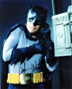 Adam West signed 10x8 colour Batman photo. William West Anderson, known professionally as Adam West,