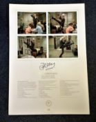 John Cleese signed The Germans Don't Mention the War A2 Lithograph limited edition 948/950. In the