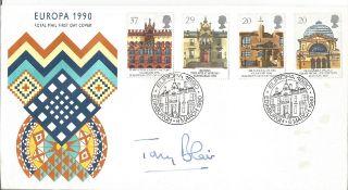 Tony Blair signed FDC Europa 1990 double PM Europa 1990 Edinburgh 6 March 1990. Good Condition.