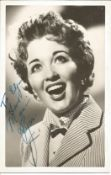Marion Ryan signed 6x4 black and white photo. Marion Ryan 4 February 1931 - 15 January 1999, was a