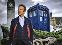 Peter Capaldi signed 16x12 Doctor Who colour photo. Peter Dougan Capaldi born 14 April 1958, is a