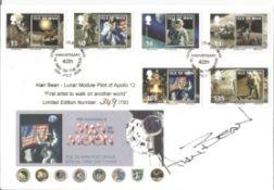 Alan Bean signed FDC 40th Anniversary Man On the Moon , Alan Bean Lunar Module pilot Apollo 12 First