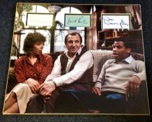 Leonard Rossiter, Frances del a Tour and Don Warrington Rising Damp Genuine Authentic Signed