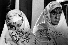 Barbara Windsor and Bernard Cribbins signed 12x8 black and white photo. Dame Barbara Windsor, DBE