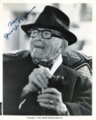 George Burns signed 10x8 black and white photo. American comedian, actor, singer, and writer. He was