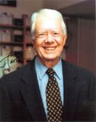 Jimmy Carter signed 10x8 colour photo . James Earl Carter Jr. born October 1, 1924, is an American