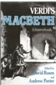 Verdi's Macbeth A Sourcebook Edited by David Rosen and Andrew Porter. Unsigned first edition