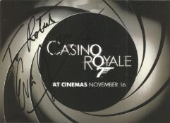 Bond Girl Eva Green signed 6x4 Casino Royale promo card. Dedicated. Eva Gaelle Green ( born 6 July