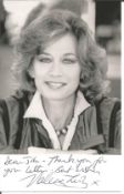 Bond Girl Valerie Leon signed 6x4 black and white photo. Dedicated. Valerie Leon (born 12 November