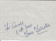 Bond Girl Fiona Fullerton signed 6x4 album page dedicated. Fiona Elizabeth Fullerton (born 10