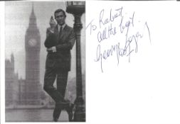 George Lazenby 8x6 signature piece. Dedicated. George Robert Lazenby ( born 5 September 1939) is