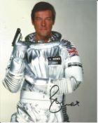 Roger Moore signed 10x8 colour Moonraker James Bond photo. Good condition. We combine postage on