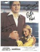 Richard Kiel and Blanche Ravalec signed 10x8 James Bond Moonraker photo. Good condition. We