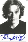Toby Stephens signed 6x4 black and white photo. Toby Stephens is an English stage, television, radio