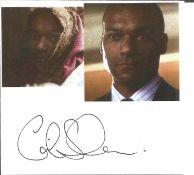 Colin Salmon 5x4 signature piece. Colin Salmon (born 6 December 1962) is a British actor known for