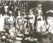 Bond Girl Martine Beswick signed 10x8 black and white photo. Martine Beswick (born 26 September