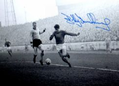Bobby Tambling Chelsea Signed 12 x 8 inch football photo. This item is from the stock of www.