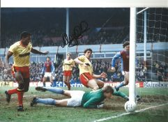Nigel Spink Aston Villa Signed 12 x 8 inch football photo. This item is from the stock of www.